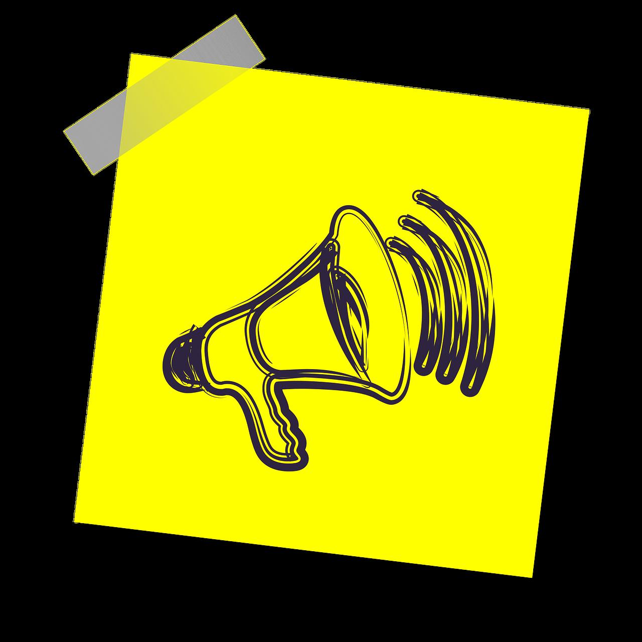 megaphone, voice, speaker