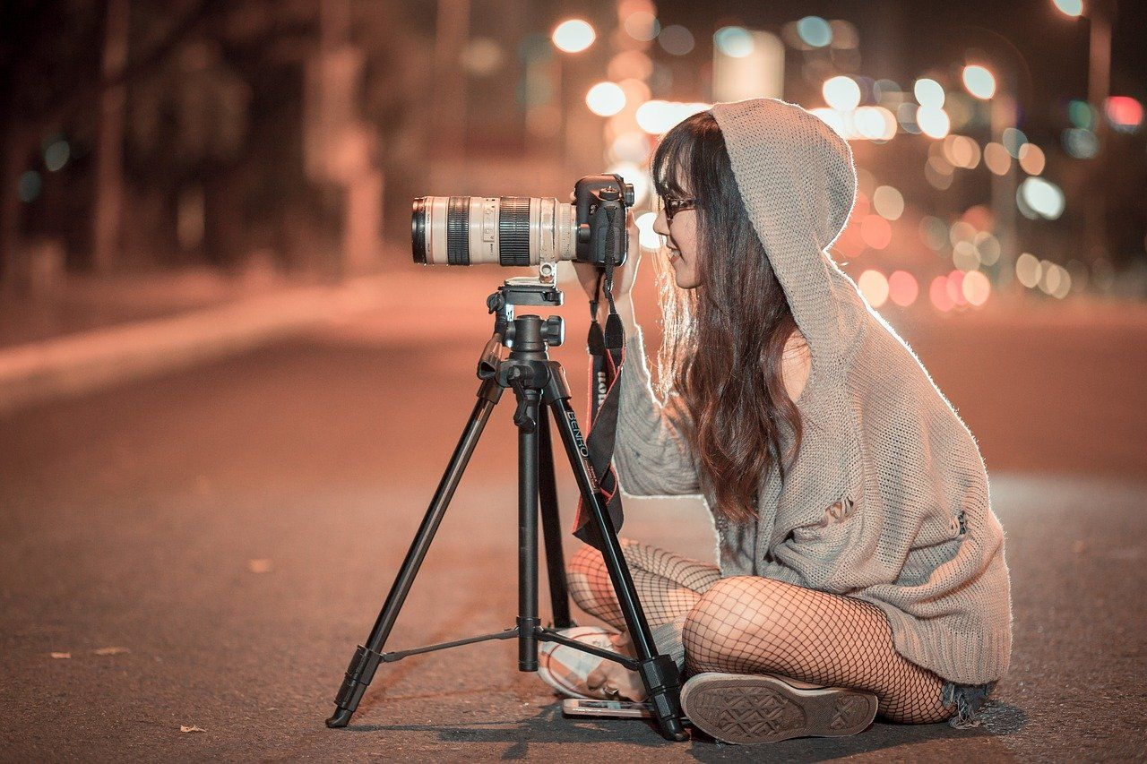 night, camera, photographer